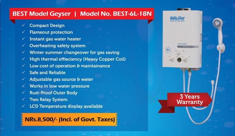 Gas Geyser - Hilltake